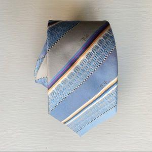 Emilio Pucci Silk Tie Italy Designer Signature